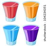 Illustration Of 4 Shot Glasses