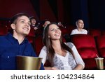 young people in the cinema | Shutterstock . vector #104234864