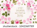 stop dreaming start doing... | Shutterstock . vector #1042369789