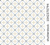 Retro Geometric Pattern In...