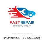 fast repair logo template... | Shutterstock .eps vector #1042383205