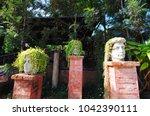 Head Planter In The Garden