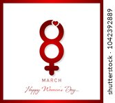 happy womens day greeting card | Shutterstock .eps vector #1042392889