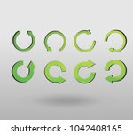 arrow refresh icon reload sign... | Shutterstock .eps vector #1042408165