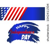 independence day usa with flag...   Shutterstock .eps vector #1042411504