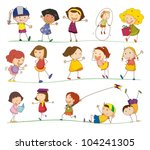 illustration of collection of... | Shutterstock .eps vector #104241305