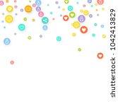 social media marketing ... | Shutterstock .eps vector #1042413829
