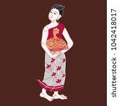 art of applied thai painting... | Shutterstock .eps vector #1042418017
