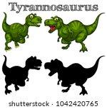 tyrannosaurus rex set | Shutterstock .eps vector #1042420765