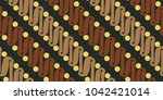 batik pattern signature of java ... | Shutterstock .eps vector #1042421014