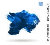 blue brush stroke and texture....   Shutterstock .eps vector #1042422574