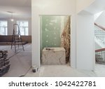 interior of apartment  during... | Shutterstock . vector #1042422781