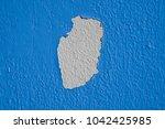 blue concrete wall abrasion...   Shutterstock . vector #1042425985
