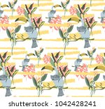 exotic colorful pattern with... | Shutterstock .eps vector #1042428241