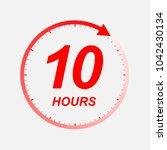 10 hour vector icon | Shutterstock .eps vector #1042430134