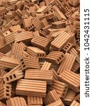 red bricks for the construction ...   Shutterstock . vector #1042431115