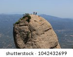 climbers on the top of the... | Shutterstock . vector #1042432699