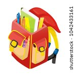 school bag  school | Shutterstock .eps vector #1042433161