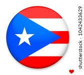 flag of puerto rico  in the... | Shutterstock .eps vector #1042433629