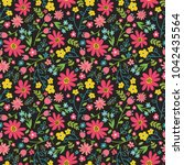 floral seamless pattern with... | Shutterstock .eps vector #1042435564