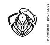spartan vector logo icon... | Shutterstock .eps vector #1042442791