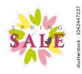 spring sale vector promotion...   Shutterstock .eps vector #1042447237