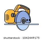 circular saw construction... | Shutterstock .eps vector #1042449175