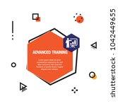 advanced training infographic...   Shutterstock .eps vector #1042449655
