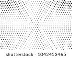 black and white radial halftone ... | Shutterstock .eps vector #1042453465