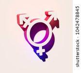 white gender transgender alt...   Shutterstock . vector #1042478845