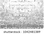 black and white radial halftone ... | Shutterstock .eps vector #1042481389