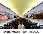 airplane chiang rai  thailand ... | Shutterstock . vector #1042487029