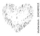 heart of music note signs and... | Shutterstock .eps vector #1042489315