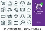 ecommerce and online store web... | Shutterstock .eps vector #1042492681
