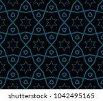 modern geometric ornament.... | Shutterstock .eps vector #1042495165