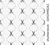 scissors pattern seamless in... | Shutterstock .eps vector #1042498261