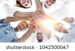 bottom view.a team of doctors... | Shutterstock . vector #1042500067