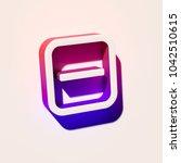 white minus in square icon. 3d... | Shutterstock . vector #1042510615