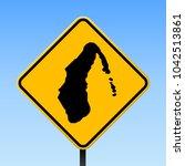 aitutaki map road sign. square... | Shutterstock .eps vector #1042513861