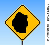 swaziland map road sign. square ... | Shutterstock .eps vector #1042513879