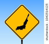 lembeh map road sign. square... | Shutterstock .eps vector #1042514125