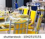 yellow mood dining room. | Shutterstock . vector #1042515151