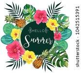 hello summer tropical...   Shutterstock .eps vector #1042515391