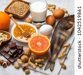 Small photo of Foods that cause allergies. Allergy food concept