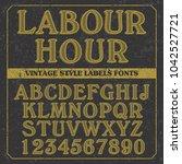font design   handcrafted... | Shutterstock .eps vector #1042527721