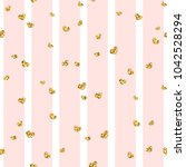gold heart seamless pattern.... | Shutterstock .eps vector #1042528294