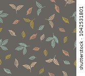 vector colorful leaf fruit... | Shutterstock .eps vector #1042531801