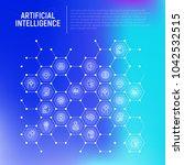 artificial intelligence concept ... | Shutterstock .eps vector #1042532515