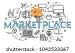 flat colorful design concept... | Shutterstock .eps vector #1042533367