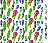 seamless pattern with... | Shutterstock . vector #1042534234